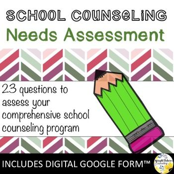 School Counseling Needs Assessment - INCLUDES DIGITAL FORM - needs assessment format