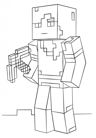 Minecraft Alex coloring page from Minecraft category. Select from ...