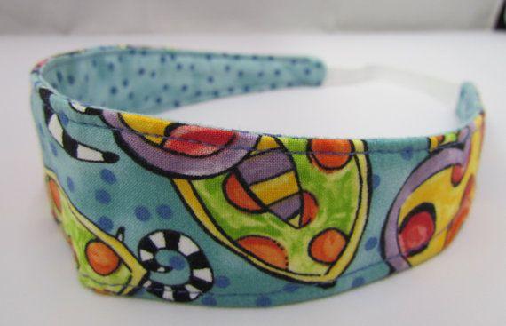 Headband Reversible Polka Dots Spring by simplynotesandtotes, $8.00