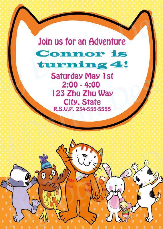 Poppy Cat Invitation Pdf By Mydarlindesigns On Etsy 6 00 Cat