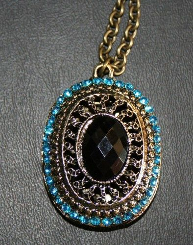 Antique Bronze Retro Pendant Necklace | 123gemstones - Jewelry on ArtFire