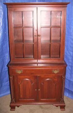 Would Like To Purchase Willett Cherry China Cabinet Buffet Rope Motif Swain Set