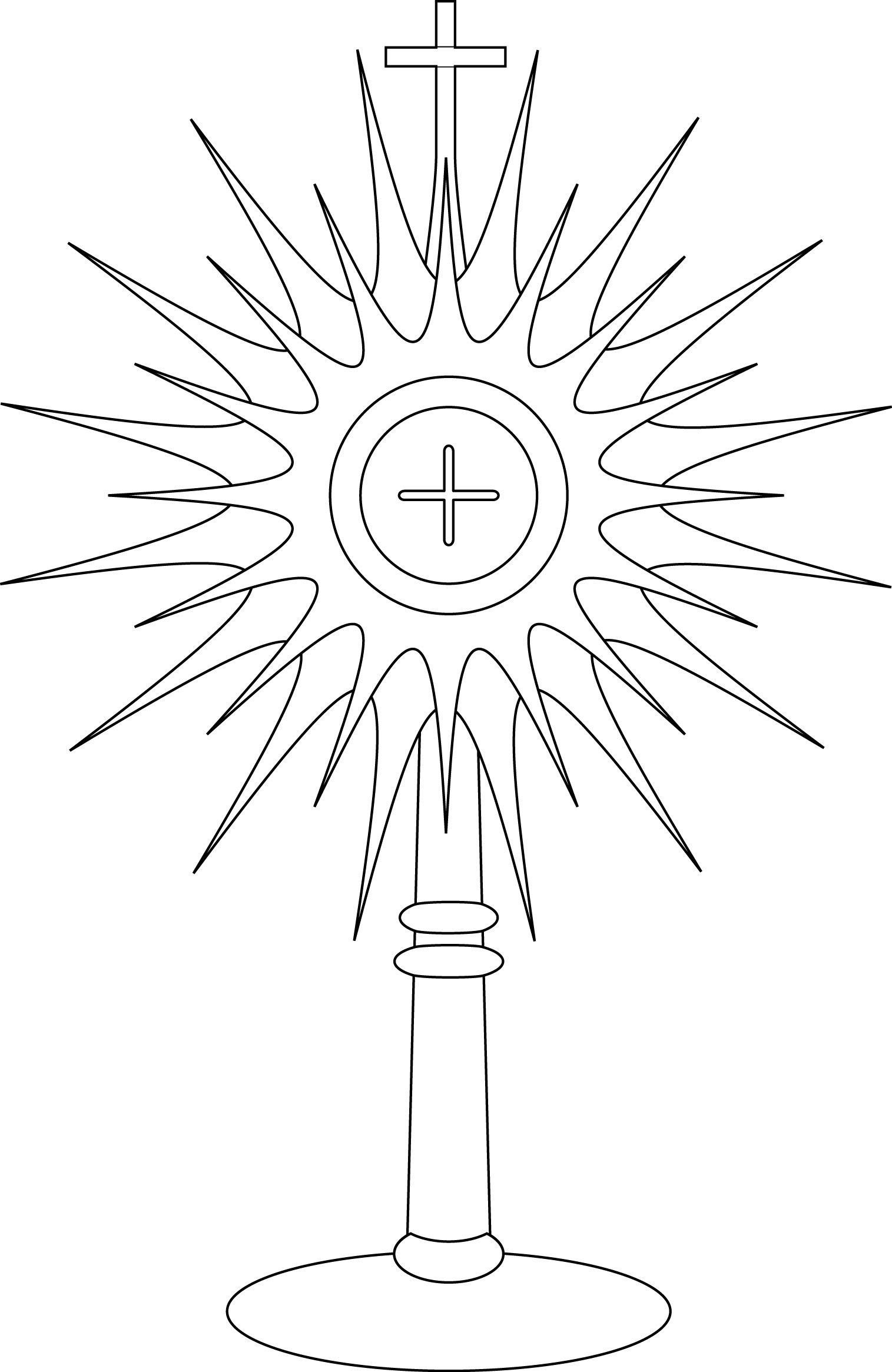 Jesus Ascension Coloring Page Awesome Monstrance Coloring
