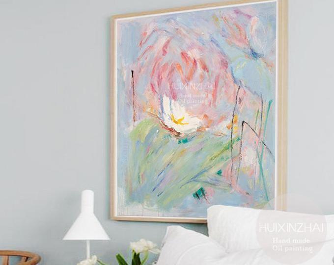 Grand Art De Mur Peinture Acrylique Abstraite Peinture
