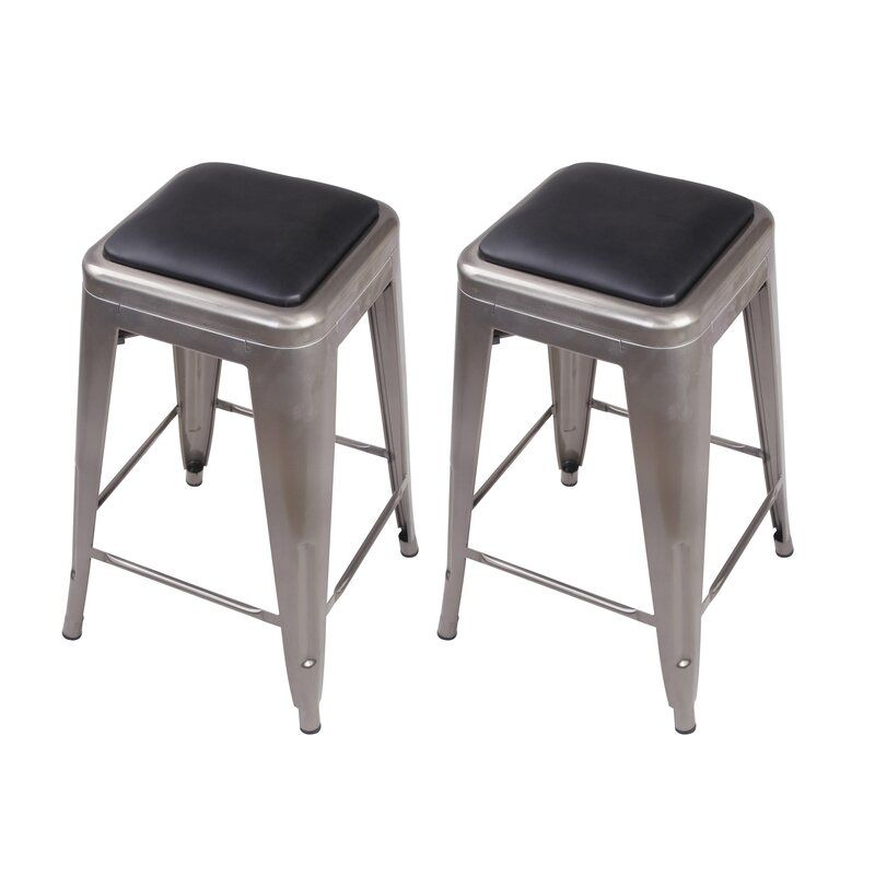 Apsel Bar Counter Stool In 2020 Counter Stools Home Bar Furniture Leather Seat