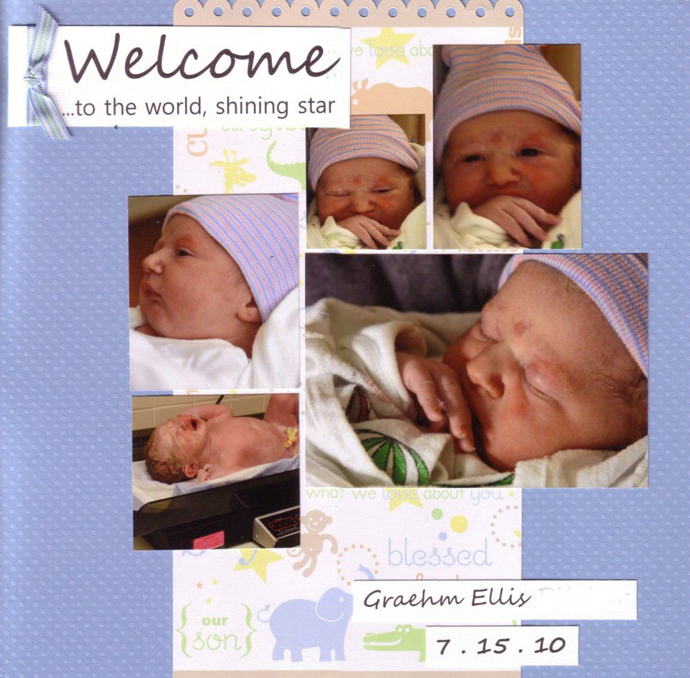 Scrapbook Layout For Welcome Home Baby