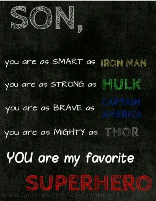 You Are My Hero Parent Quotes Sons Boy Room Superhero Room