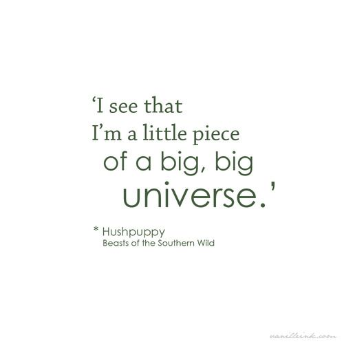 A big, big universe. (great movie)