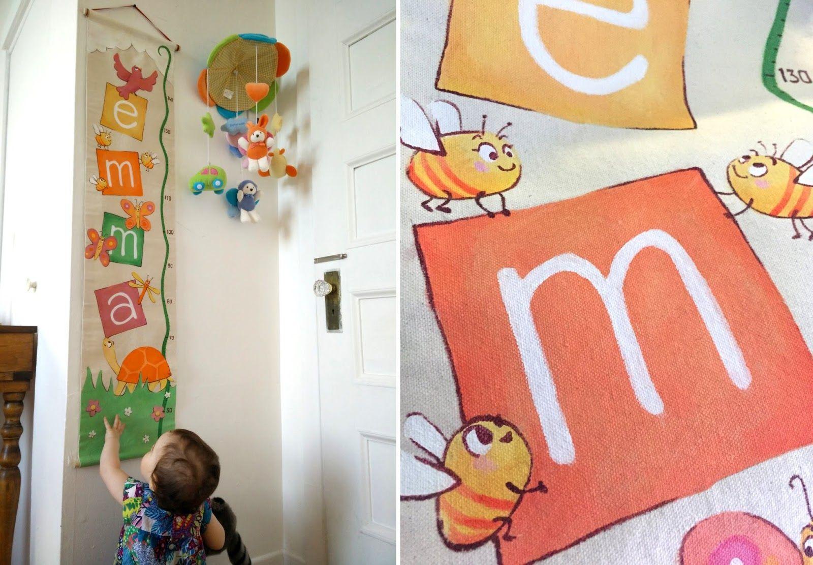 baby Gift! so cute baby growth chart - acrylic on burlap - handmade