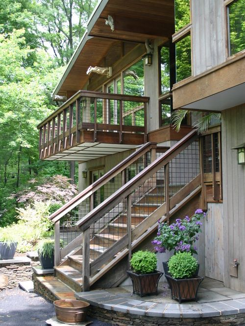 Hogwire stair and deck rails | deck | Wire deck railing