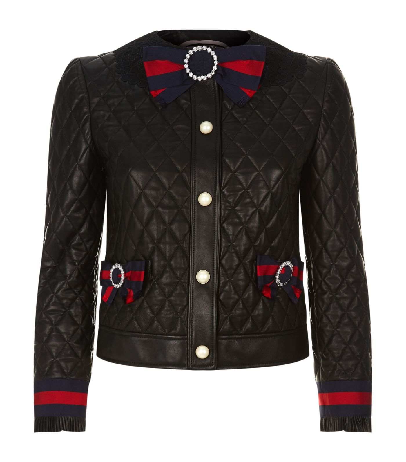 Gucci Quilt Leather Jacket