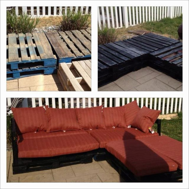 Diy Patio Furniture From Pallets Outdoor Sectional