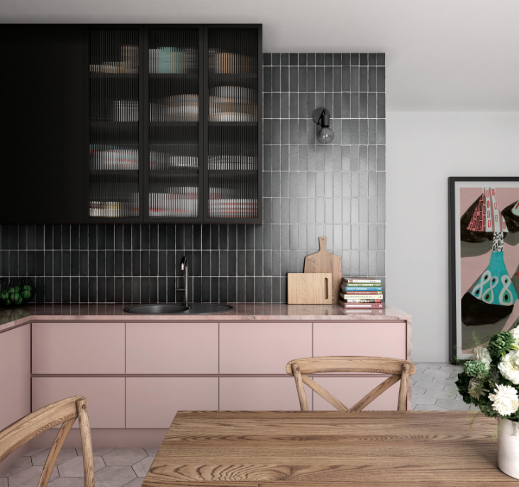 Vertical Tile Is The New Kitchen Bathroom Trend You Need To Know About Bathroom Trends New Kitchen Black Kitchens