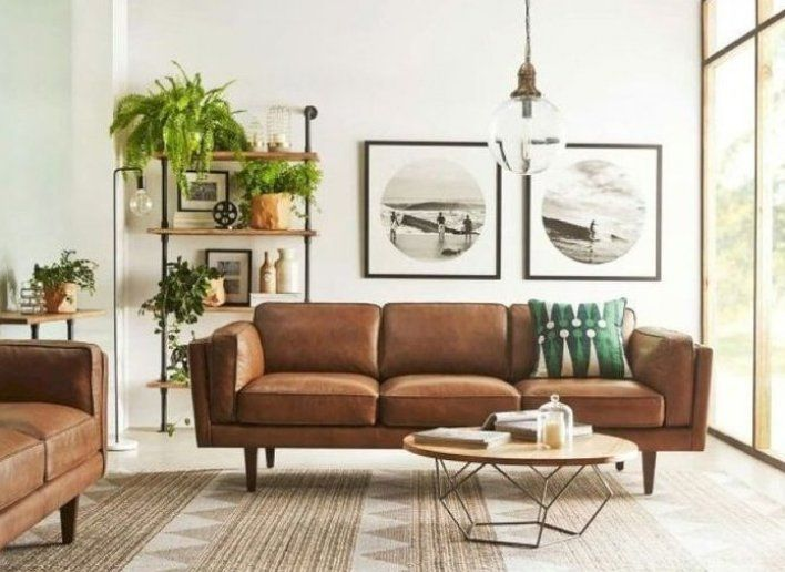 Home Decor Ideas Official Youtube Channel S Pinterest Acount Slide Home Brown Couch Living Room Living Room Decor Modern Mid Century Modern Living Room Design