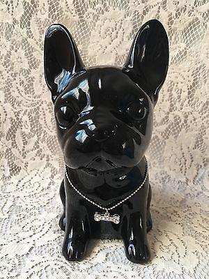 French Bulldog Pup Black Ceramic Hipster Dog Lover Urban Home
