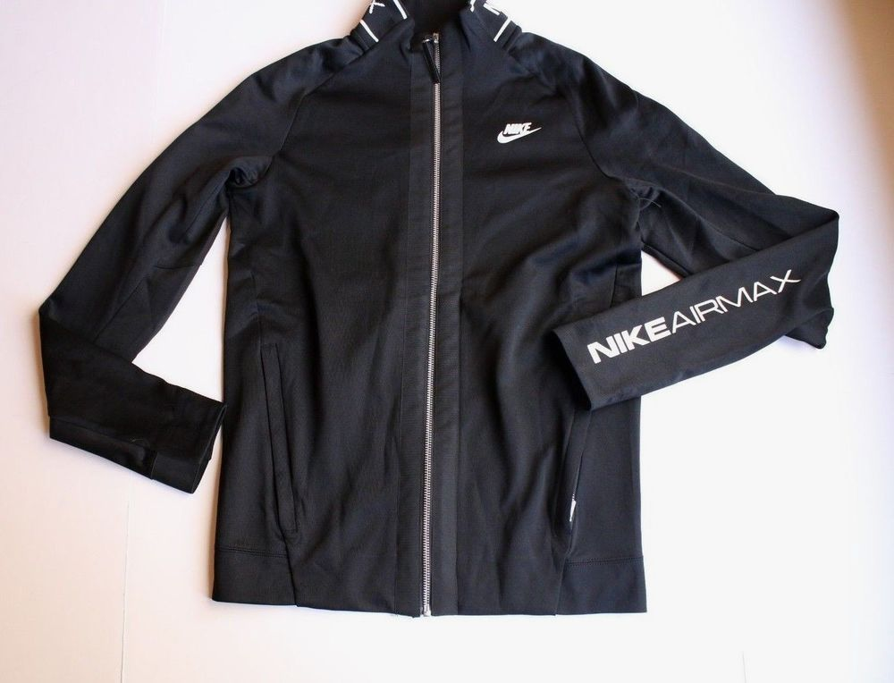 NIKE Air Max Track Jacket Black White