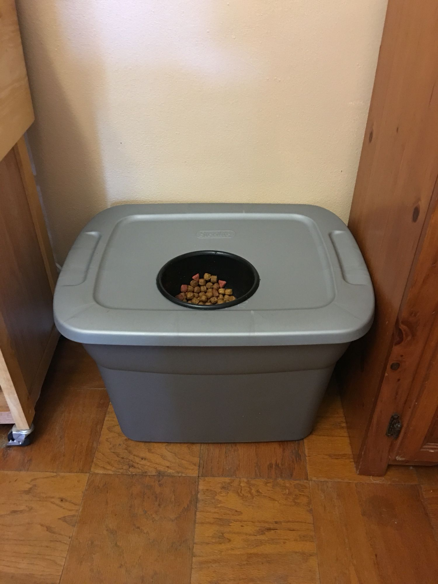 Dog Food Storage Container Food Bowl For A Large Dog Made With A