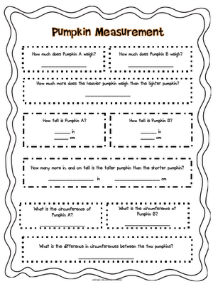 fun math activity for measuring weighing pumpkins educationjourney school and craft ideas for. Black Bedroom Furniture Sets. Home Design Ideas
