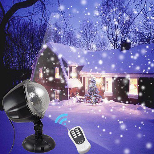 GESIMEI Christmas Light Projector Outdoor Indoor Snowfall Projection