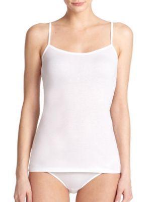 Small HANRO Women/'s Ultralight Spaghetti Camisole Skin