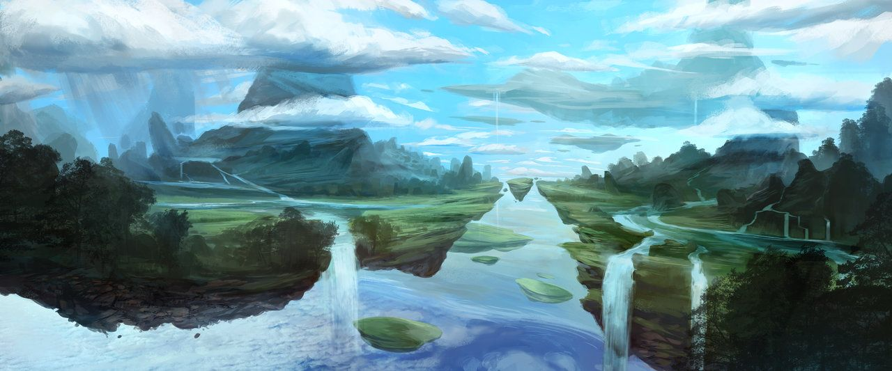 Floating Islands by Sebastian Wagner | Landscapes