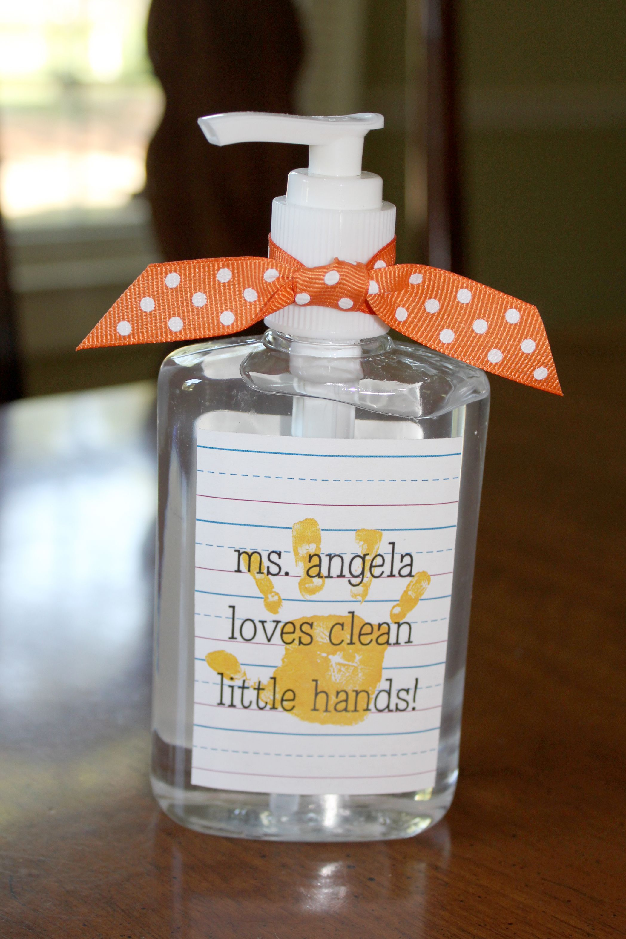 Teacher Appreciation Hand Sanitizer Teacher Christmas Gifts