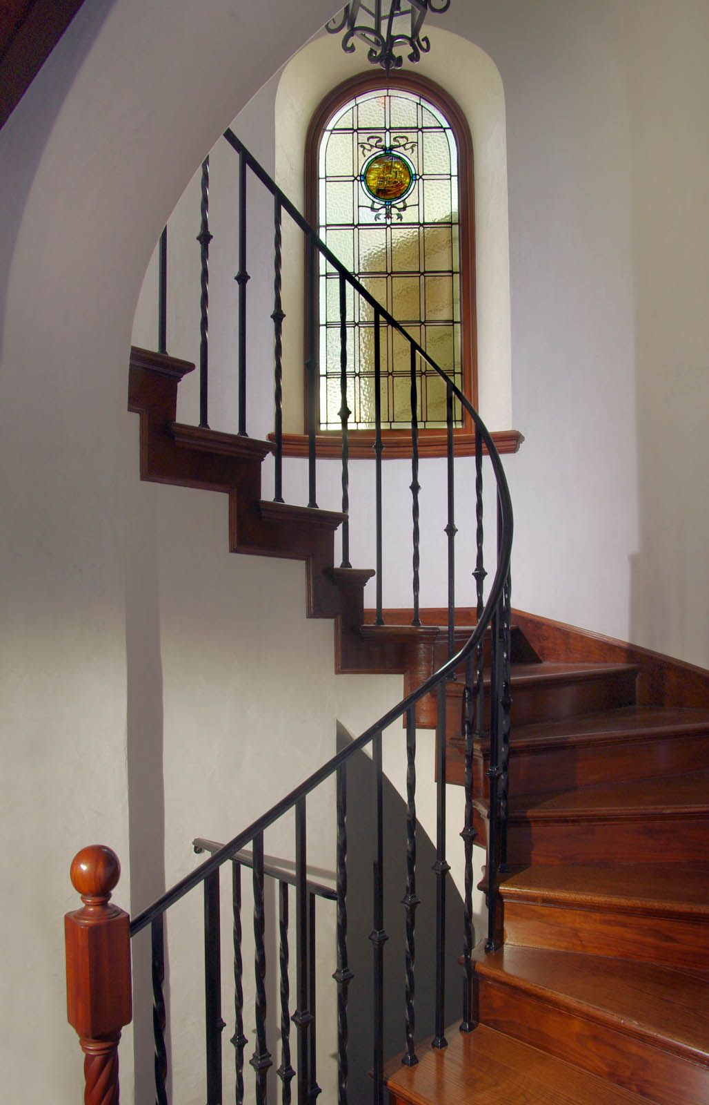Best Mahogany Stairs In Renovated 1936 Spanish Colonial Revival 400 x 300