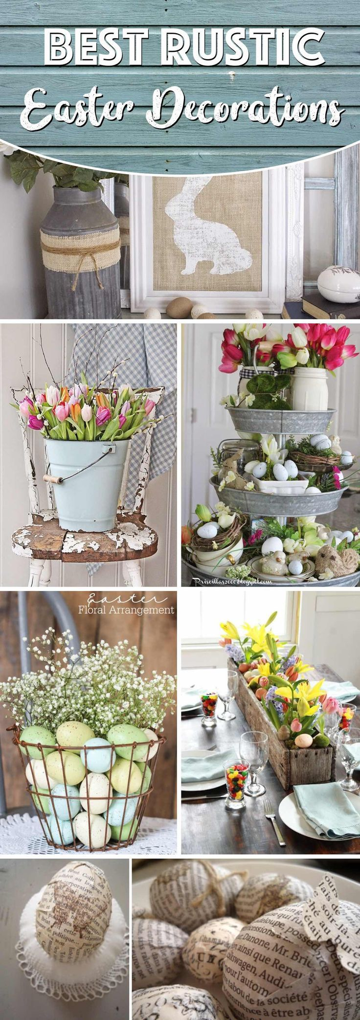 20 Rustic Easter Decorations Bringing A Farmhouse Appeal To Your