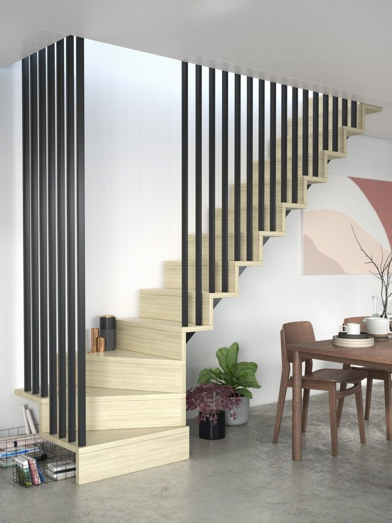 un claustra pour escalier intérieur ça envoie du bois