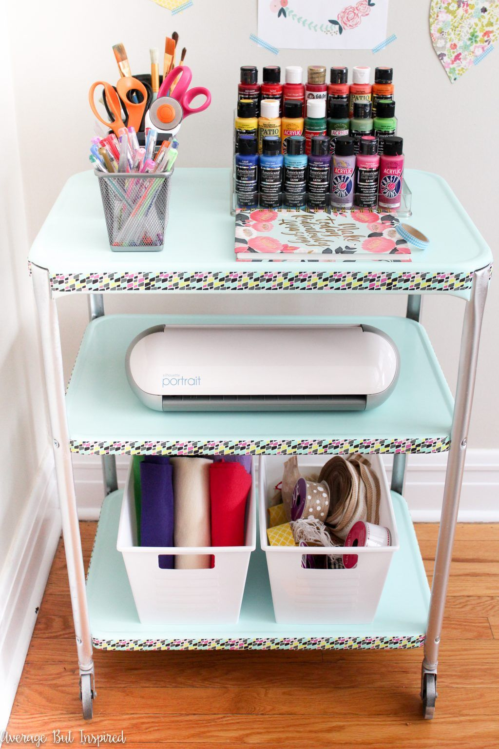 Vintage Projector Cart Makeover Making Home Pretty Pinterest