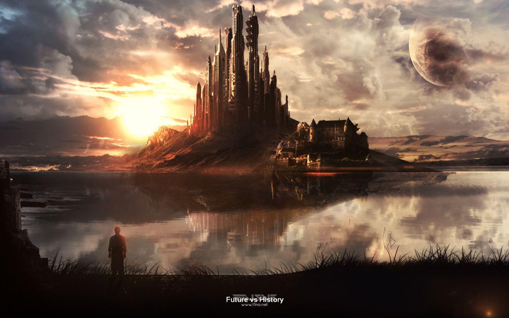 Beautiful world of imagination Digital art fantasy