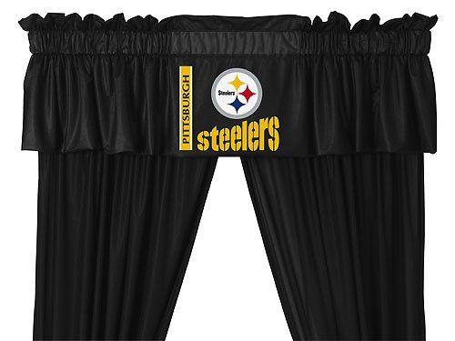 Pin By Kim Kotch On Curtains Pittsburgh Steelers Merchandise Pittsburgh Steelers Pittsburgh Steelers Logo