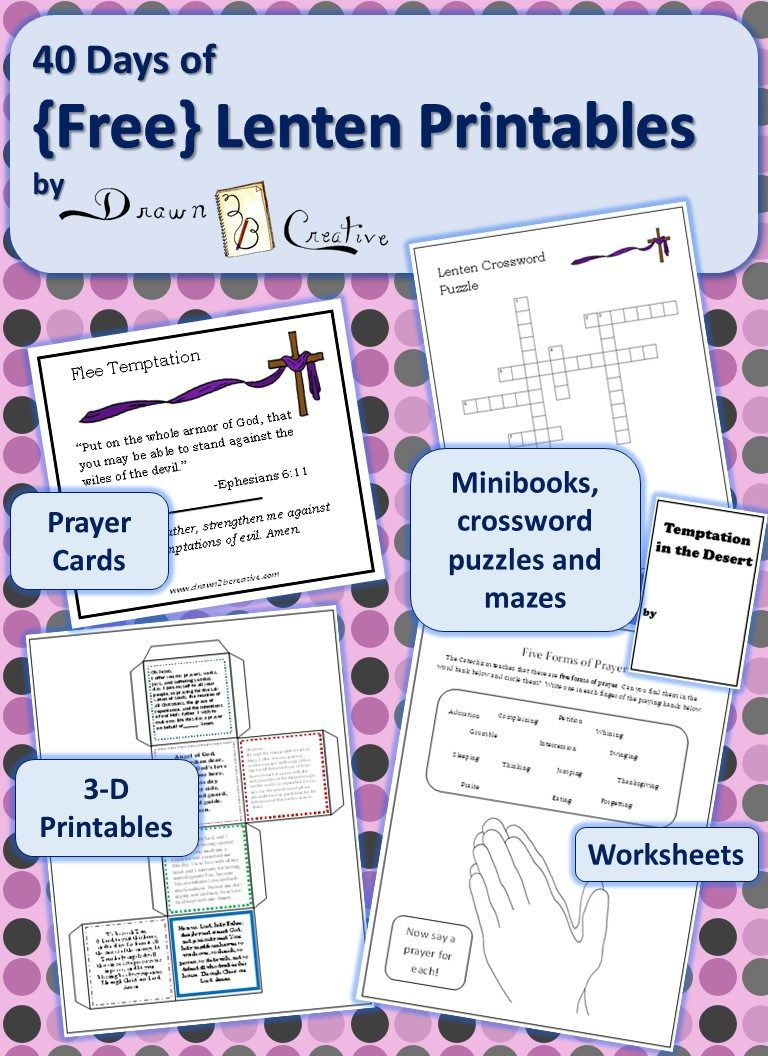 worksheet Lent Worksheets 40 days of lenten printables thumnail catholic pinterest printables