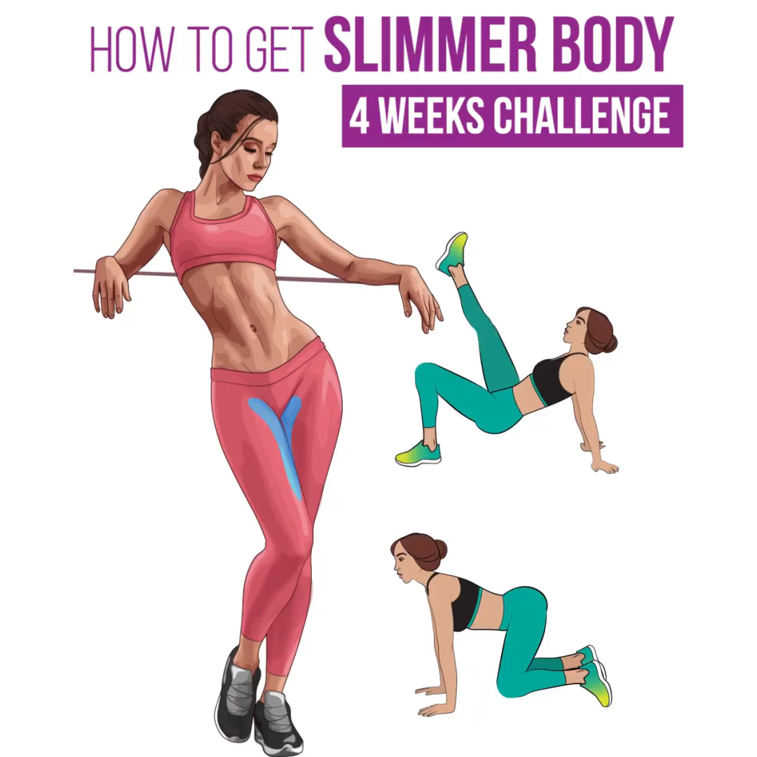 Get Slimmer Body With This Workout #fitnesschallenges