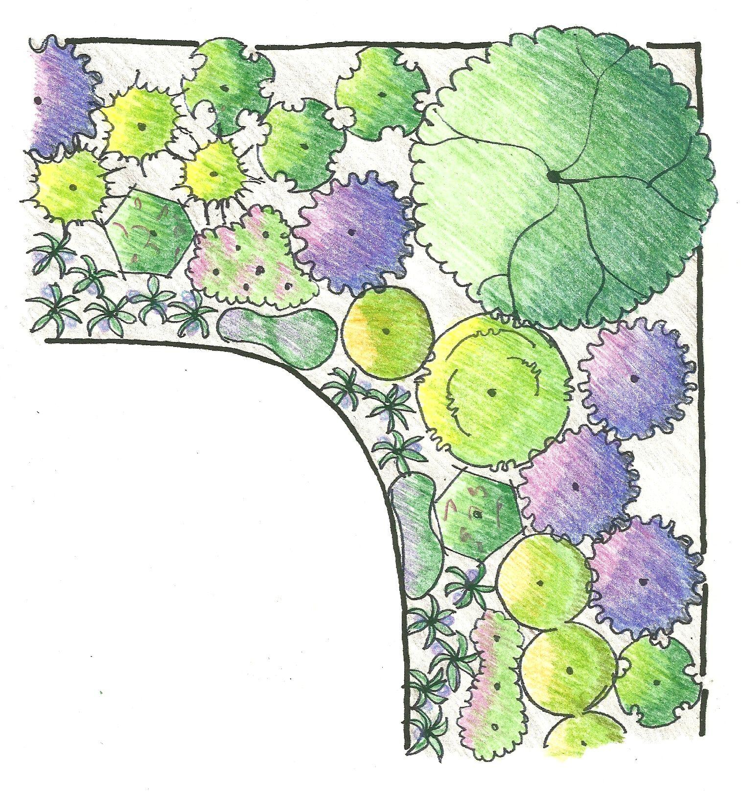 Design Spotlight: Plan for a Sunny Corner Garden