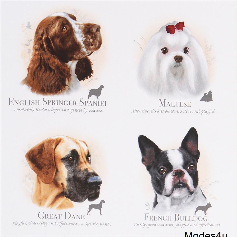 Light Cream Cute Dogs Name Dog Breeds Fabric By Elizabeth S Studio Cute Names For Dogs Every Dog Breed French Bulldog