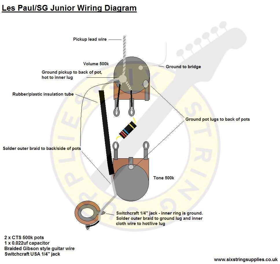 Junior Les Paul Wiring Diagram - Catalogue of Schemas on