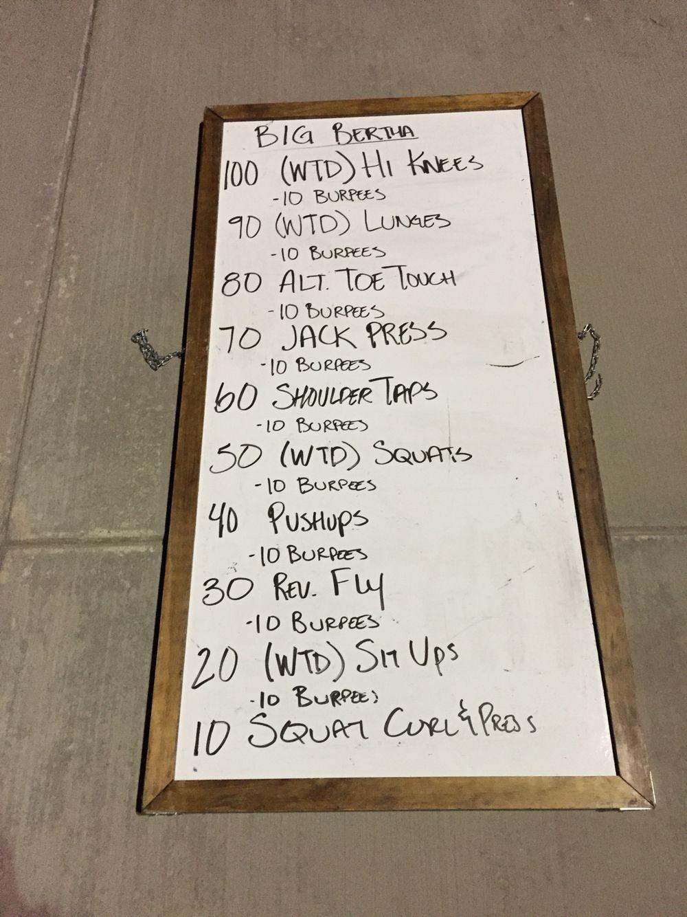 Cg workout endurance workout gladiator workout ladder