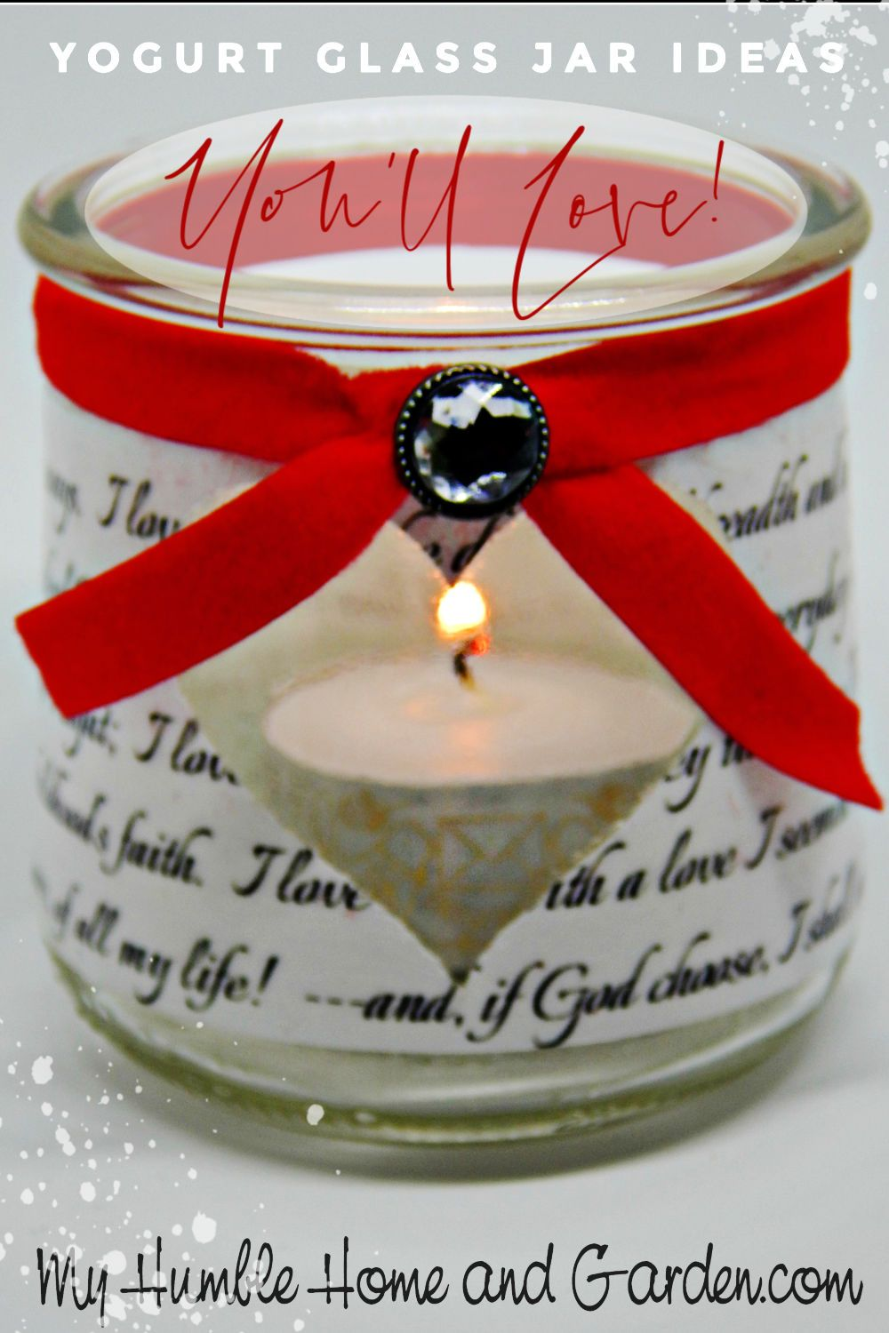 Yogurt Glass Jar Ideas You Ll Love For Valentine S Day My Humble Home And Garden Glass Jars Jar Diy And Crafts Sewing