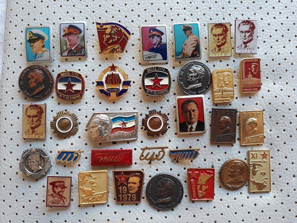 3ecbb4b084f2 Josip Broz Tito SFRJ Yugoslavia Communist Vintage Pins Badges Josip Broz  Tito