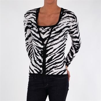 Belldini Zebra Knit Twinset with Embellishment #VonMaur #Belldini #Twinset #ZebraPrint