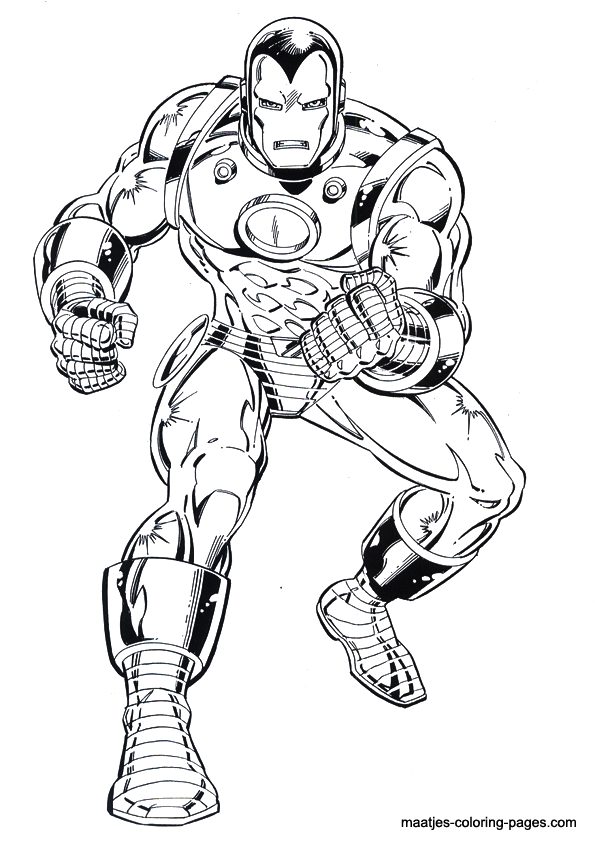 Iron Man Colouring Book