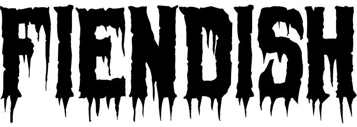 Free dripping scary font: Fiendish | Printables | Scary font