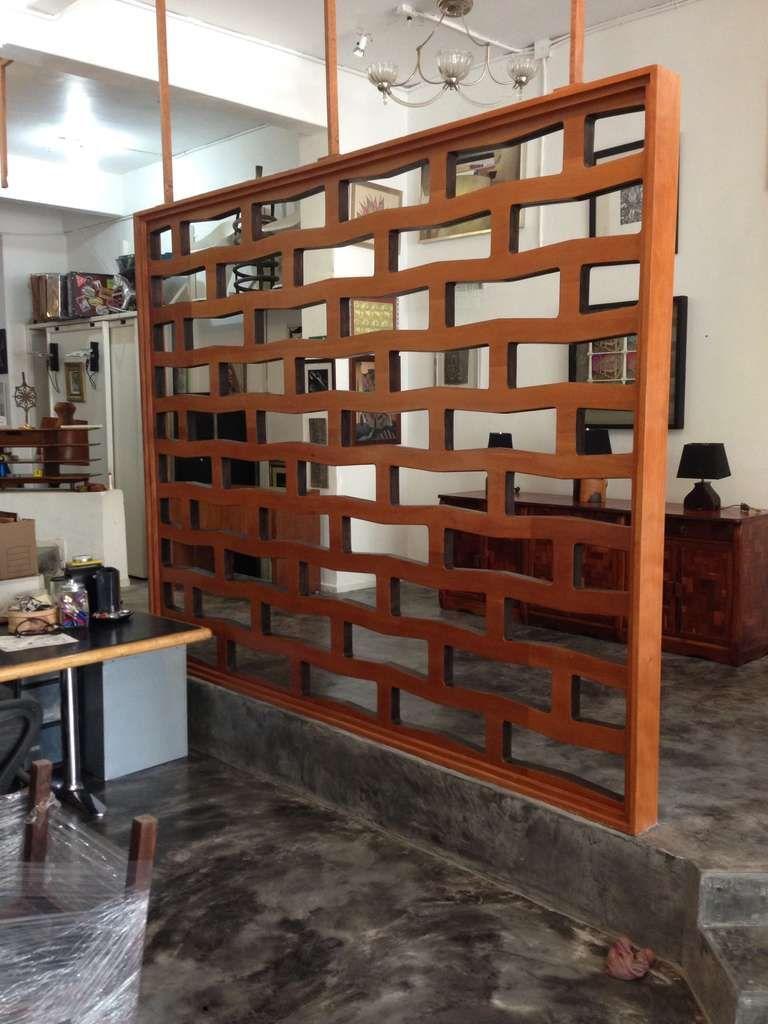 Original Flat Mahogany Screen Room Divider 1950s At 1stdibs
