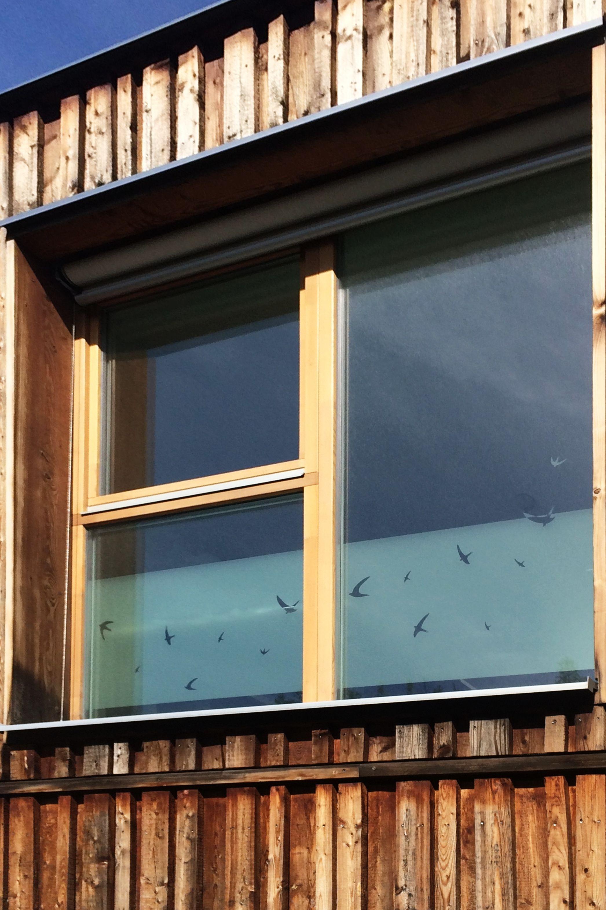 Fensterfolie Mit Vogeln Sichtschutz Und Dekoration Fur Fenster