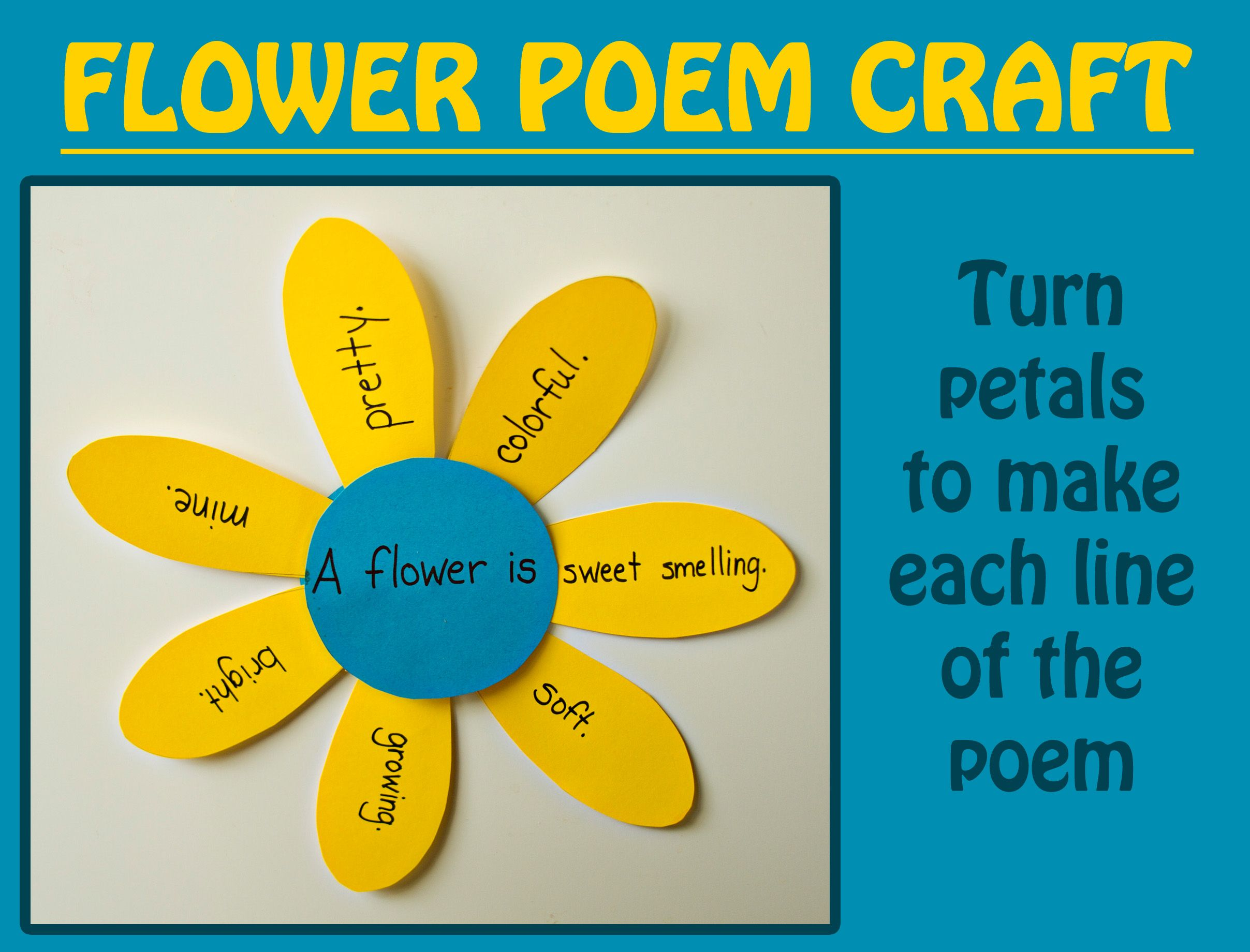 Uncategorized Poem On Flowers In English For Kids perfect for spring and earth day turn your flower crafts into a simple childrens poem