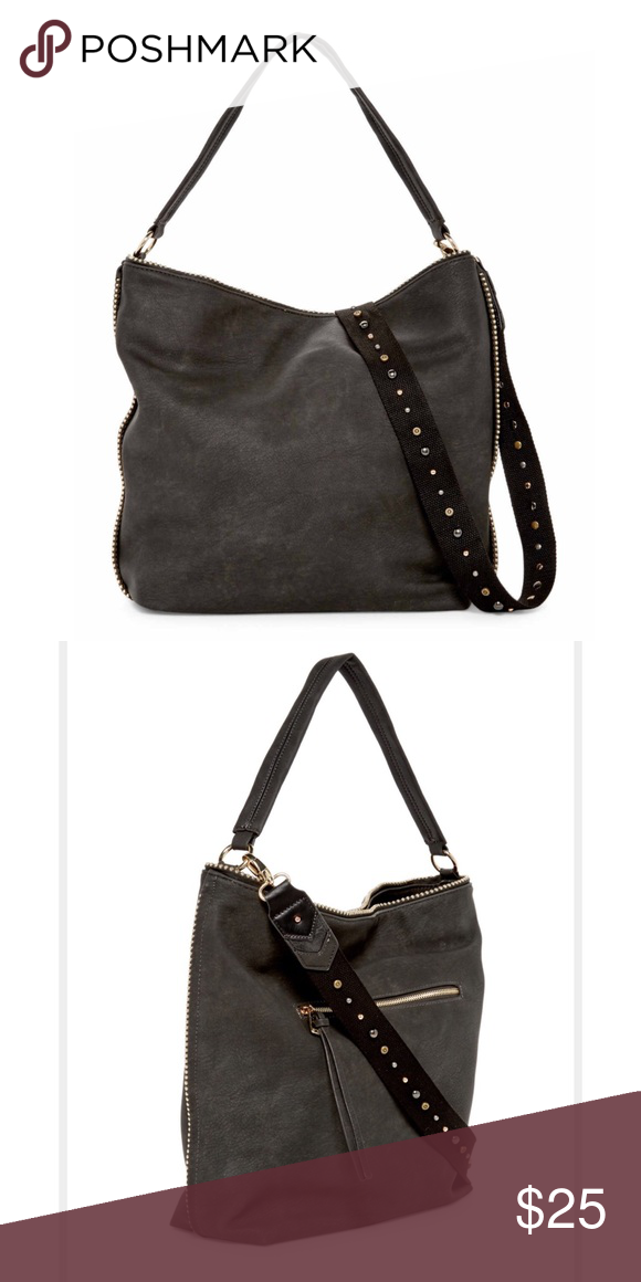 08ead8429be4 Steve Madden Catie Faux Leather Hobo - Single flat top handle - Detachable  studded shoulder strap