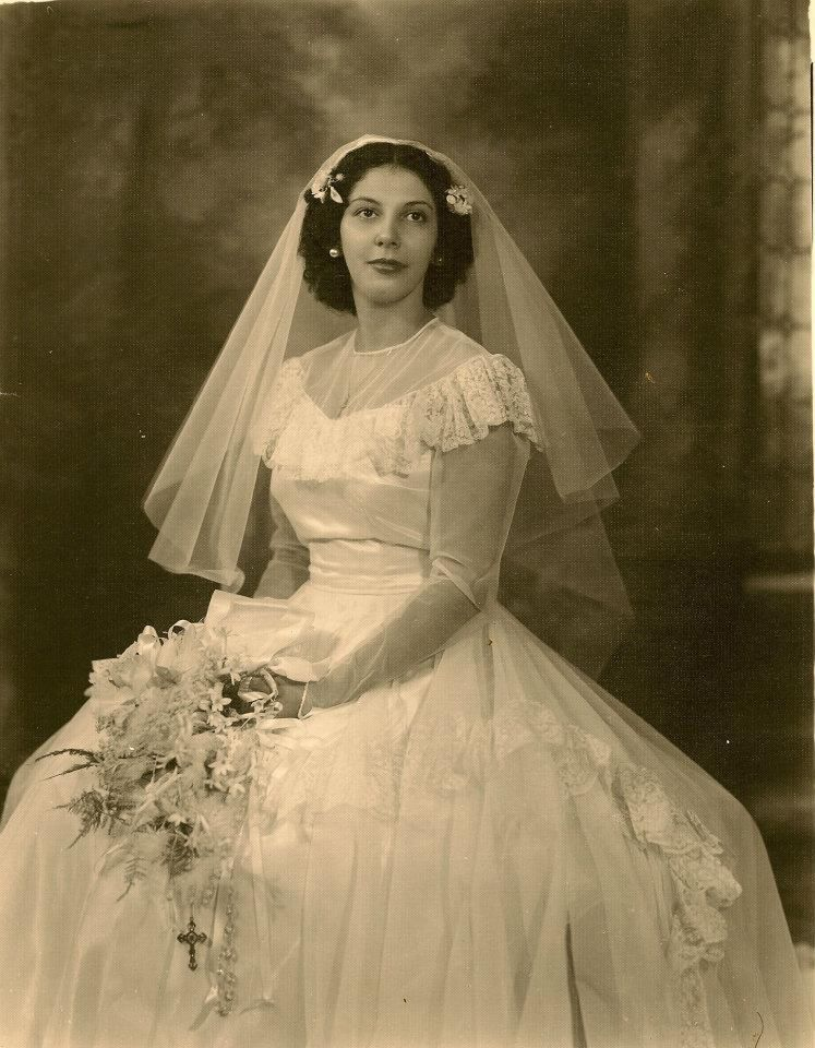1940\'s Louisana French Creole newlyweds | Vintage Weddings ...