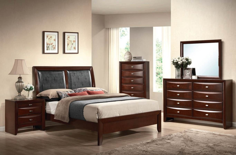 Ireland Black Espresso Wood PU Master Bedroom Set Master