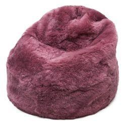 Terapy Maxi Zitzak.Sheepskin Bean Bag Icelandic Long Wool And Shorn Sheepskin